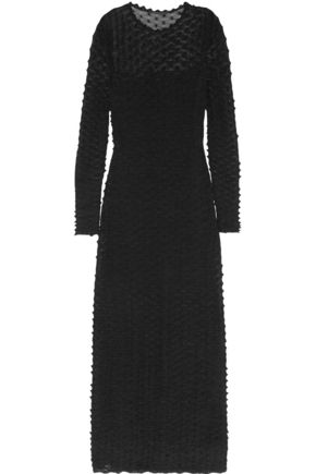 AGNONA Knitted silk and cotton-blend maxi dress