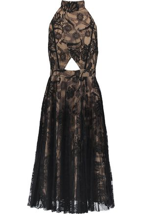 ALEXIS Georgie embroidered-lace cut-out dress