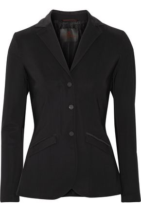 CAVALLERIA TOSCANA Faux suede-trimmed tech-jersey blazer