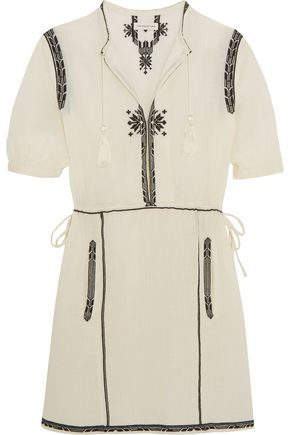 ISABEL MARANT ÉTOILE Rebel embroidered cotton mini dress