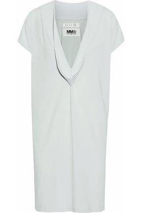 MM6 MAISON MARGIELA Draped stretch-cady dress