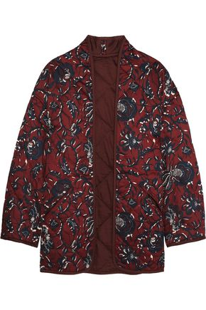 ISABEL MARANT ÉTOILE Daca floral-print quilted cotton jacket