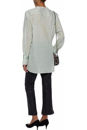 BY MALENE BIRGER Gulana satin-trimmed cotton-gauze tunic