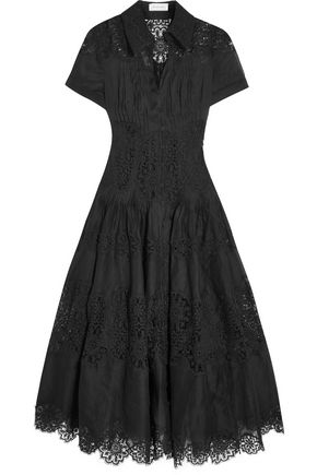 ZIMMERMANN Winsome cotton-gauze and lace midi dress