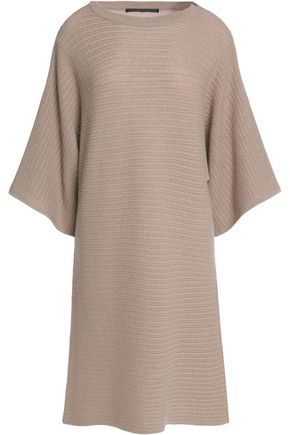 AGNONA Cable-knit cashmere dress