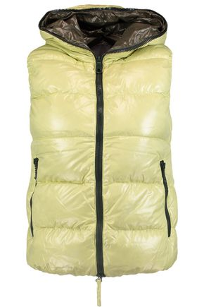 DUVETICA Padded shell down hooded gilet