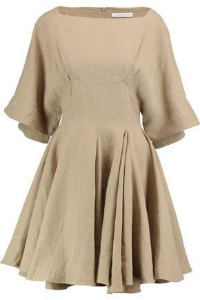 J.W.ANDERSON Gathered linen mini dress