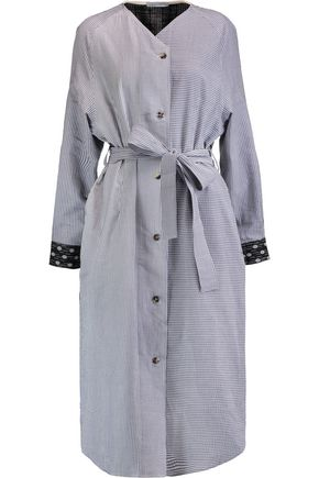 J.W.ANDERSON Paneled striped cotton and linen shirt dress