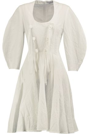 J.W.ANDERSON Knotted cotton and linen-blend mini dress