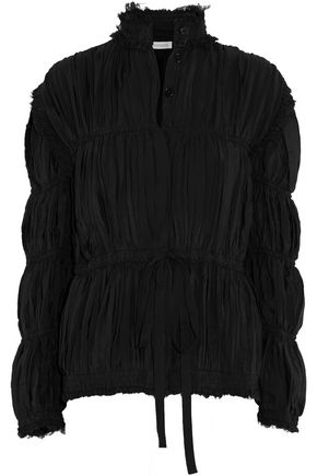 J.W.ANDERSON Pleated paneled crepe jacket