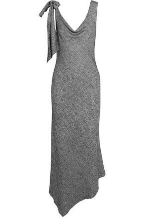 MAISON MARGIELA Knotted asymmetric tweed midi dress