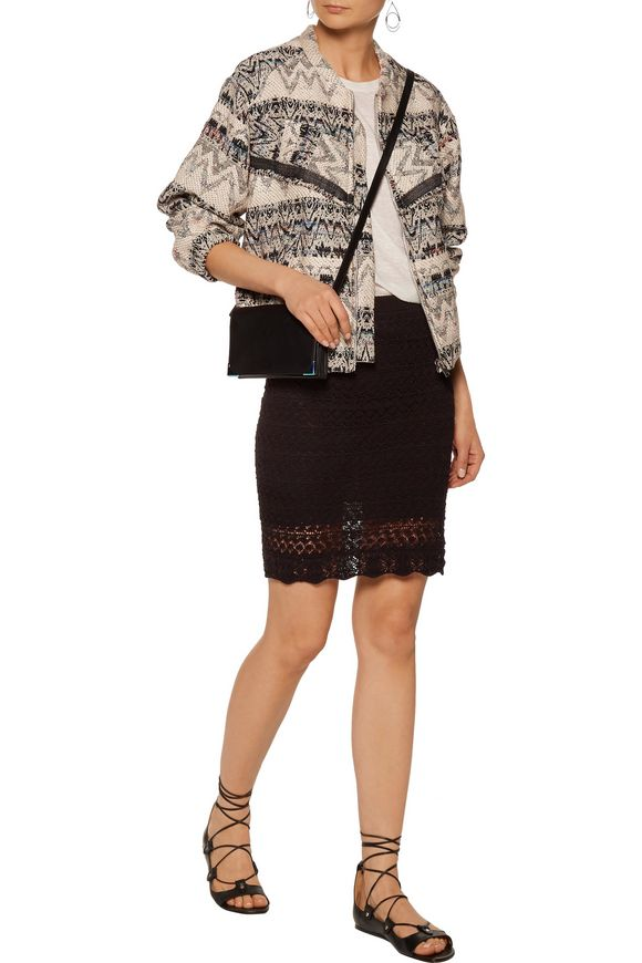Goldy fringed intarsia-knit jacket | IRO | Sale up to 70% off | THE OUTNET