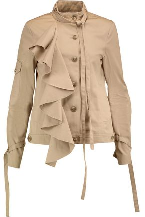 ROBERT RODRIGUEZ Ruffled cotton-twill jacket