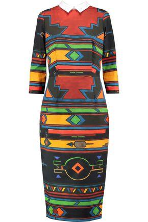 STELLA JEAN Printed cotton-blend midi dress