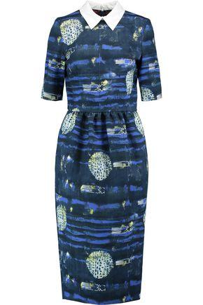 STELLA JEAN Printed cotton-twill midi dress