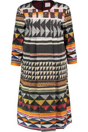 STELLA JEAN Pleated printed cotton-blend dress