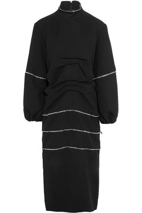 J.W.ANDERSON Convertible zipped gathered crepe dress