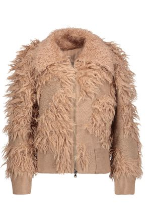 3.1 PHILLIP LIM Faux fur-paneled knitted jacket