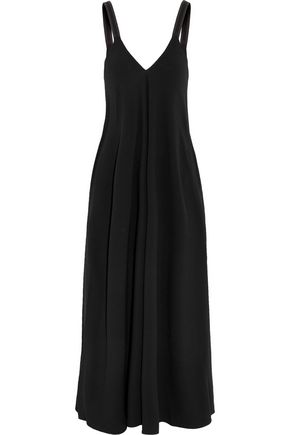 HELMUT LANG Embroidered crepe midi dress
