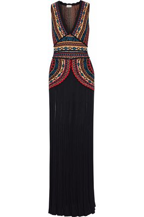 TALITHA Intarsia-knit maxi dress