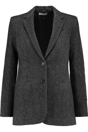 VINCE. Boy herringbone wool-blend tweed blazer