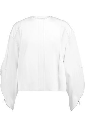 AMANDA WAKELEY Zipped paneled satin jacket