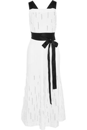 AMANDA WAKELEY Dial distressed bouclé gown