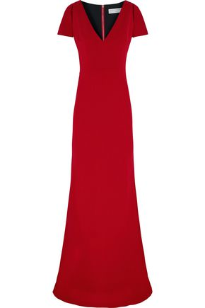 VICTORIA BECKHAM Cutout silk and wool-blend crepe gown