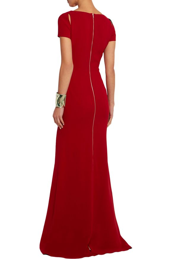 Cutout silk and wool-blend crepe gown | VICTORIA BECKHAM | Sale up to 70%  off | THE OUTNET