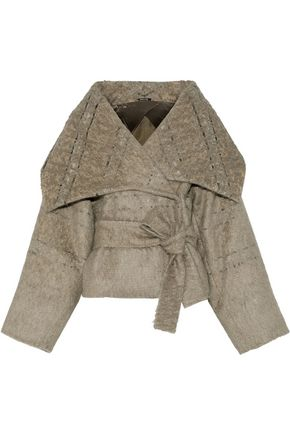 MAISON MARGIELA Belted cotton-blend jacquard jacket