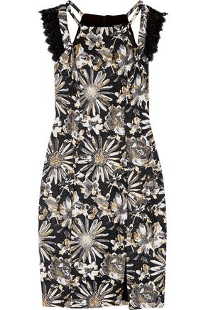 BADGLEY MISCHKA Brocade dress