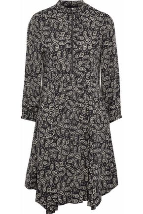 BELSTAFF Pleated printed crepe dress