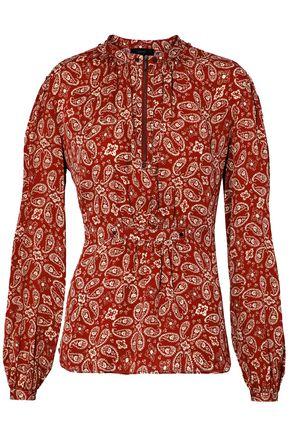 BELSTAFF Printed crepe de chine blouse