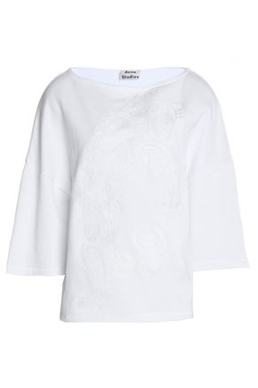 ACNE STUDIOS Embroidered cotton-jersey sweatshirt