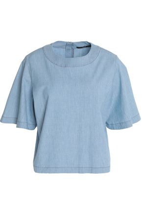 J BRAND Archer cotton-blend chambray blouse