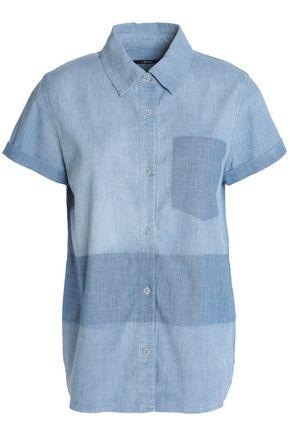 J BRAND Wylie two-tone cotton-blend chambray shirt