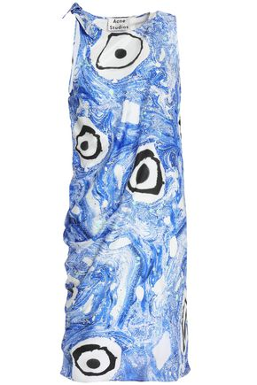 ACNE STUDIOS Printed silk mini dress