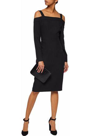 IRIS & INK Steff cold-shoulder crepe dress