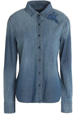 J BRAND Anzi embroidered denim shirt