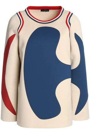 ANYA HINDMARCH Paneled neoprene and cotton sweatshirt
