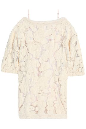SONIA RYKIEL Cold-shoulder knitted cotton-blend dress
