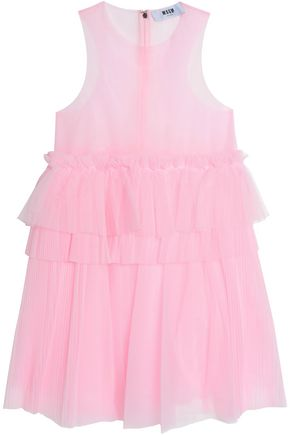 MSGM Tiered tulle dress