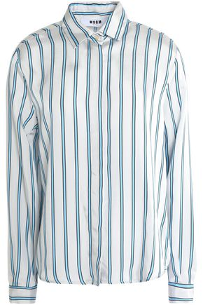 MSGM Striped satin shirt