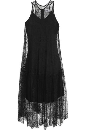 MSGM Pleated lace dress