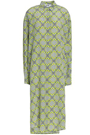 MSGM Printed silk crepe de chine shirt dress