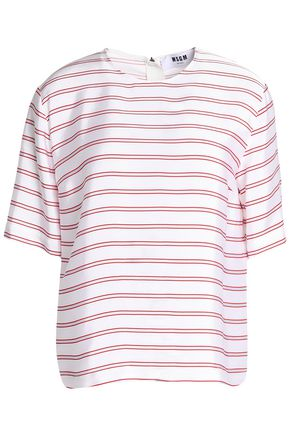 MSGM Striped canvas top