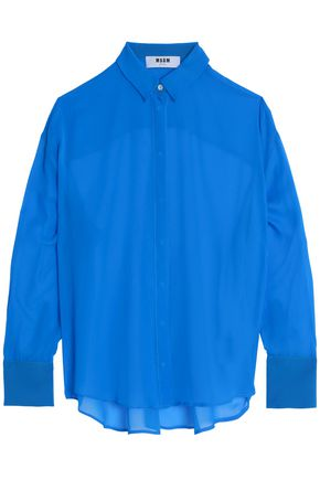 MSGM Silk-chiffon shirt