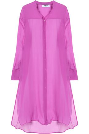 MSGM Silk-georgette midi dress