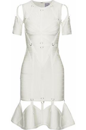 HERVÉ LÉGER Strap-detailed cutout bandage dress
