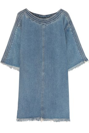 CHLOÉ Frayed denim dress